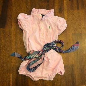 Pink Ralph Lauren 12M Romper
